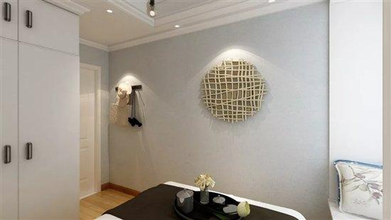企业 企业       根据家居墙面的设计,在电视墙上增加造型线与艺术漆图片