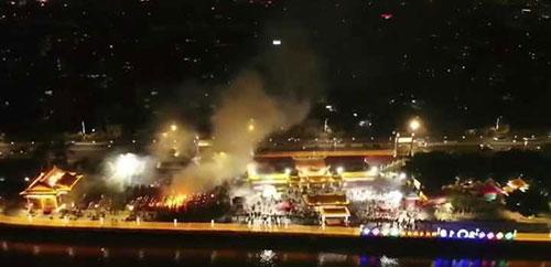 2019青龙庙会航拍夜景