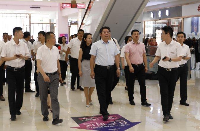 广州市商务局领导莅临石家庄乐城参观考察